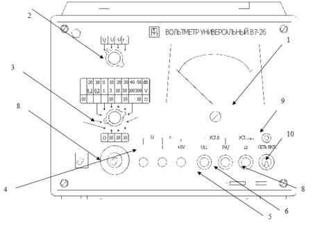 Внешний вид вольтметра В7-26